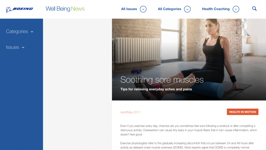 Boeing Well Being News